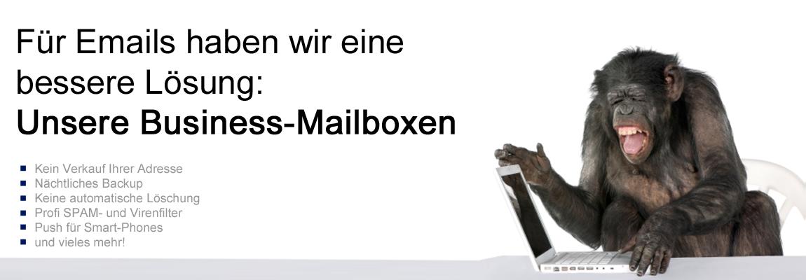Businessmailboxen - professionell, ohne Werbung und inkl. Backup