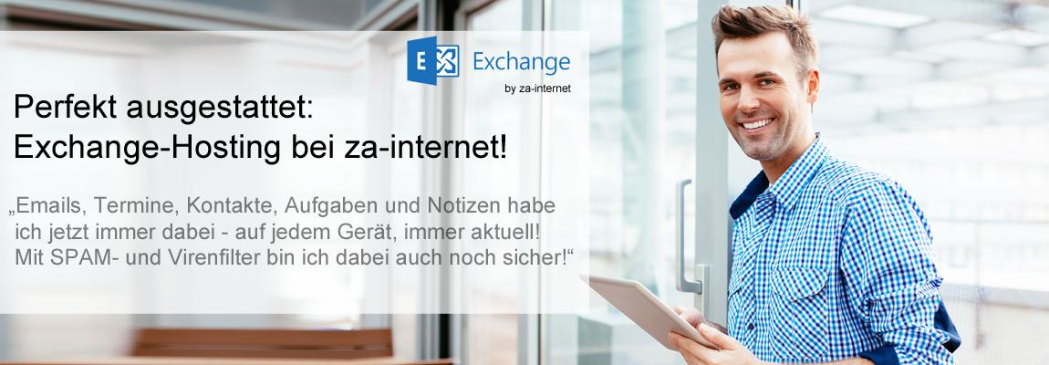 Exchange Hosting  - Mail, Kalender, Kontakte, Aufgaben - einfach überall!